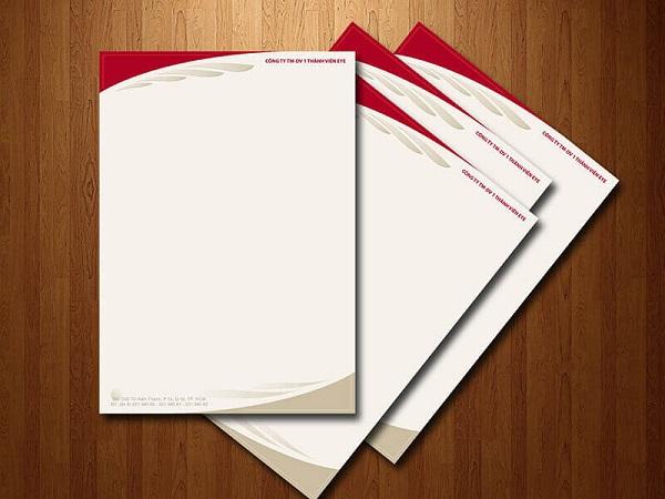 Tiêu đề thư in theo công nghệ Offset đẹp, chất lượng